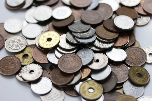 沢山の硬貨